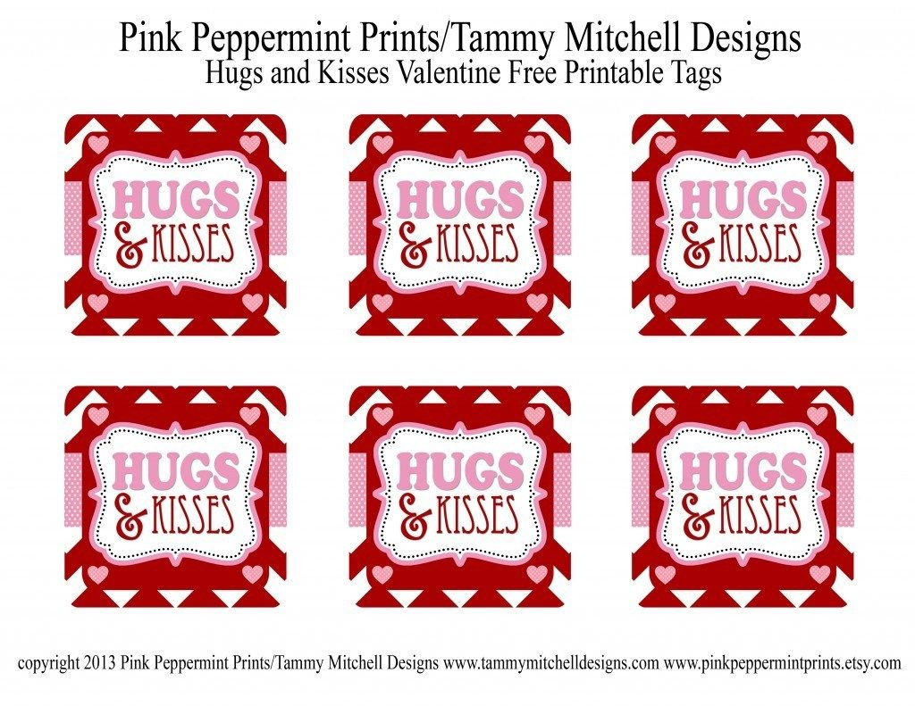 Freebie Hugs And Kisses Valentine Free Printable Tag Card Valentines Tags Printable Valentines Card For Husband Valentines Gift Tags
