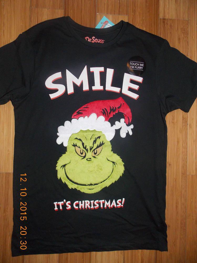 b0c215945f939 Details about PRIMARK MEN'S THE GRINCH T SHIRT SMILE IT'S CHRISTMAS ...