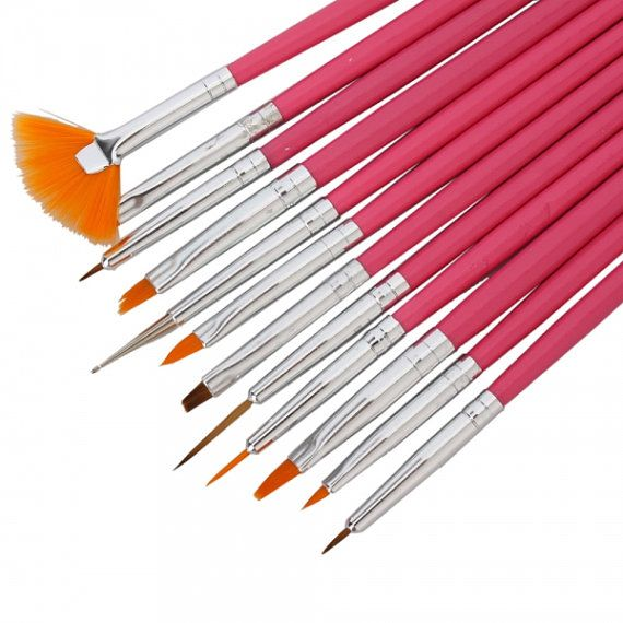 Brush Set Nail Brushes Nail Art Brush Nails Brush By 3dnailart