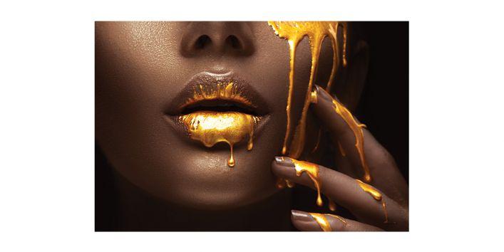 Wall Art Home Decor Woman Face Natural Lipstick Natural Lipstick Recipe