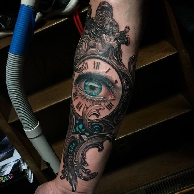 clockface eye tattoo tattoo 39 s pinterest baroque eyes and clock. Black Bedroom Furniture Sets. Home Design Ideas