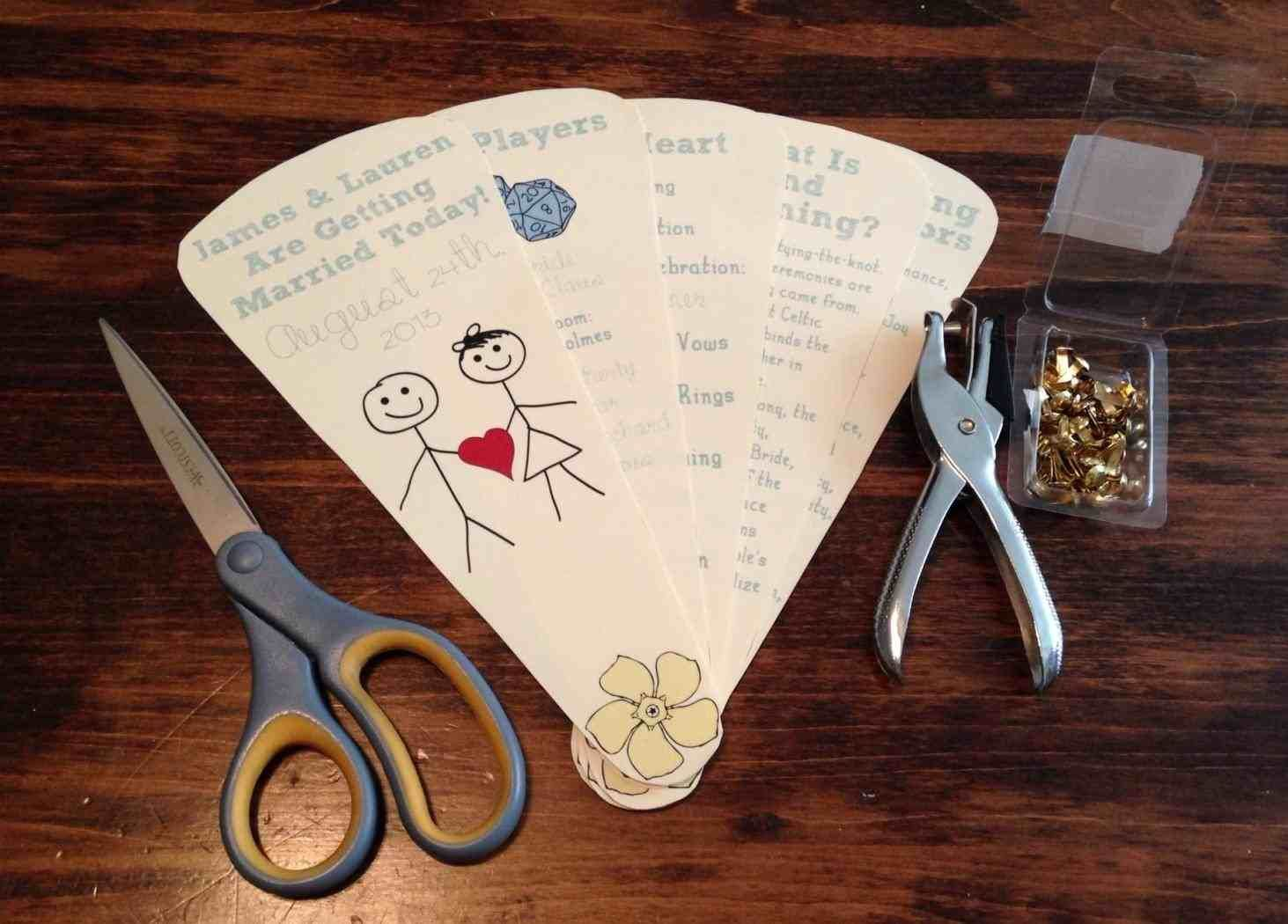 Wedding Program Fans Diy Weddings Pinterest Wedding Wedding