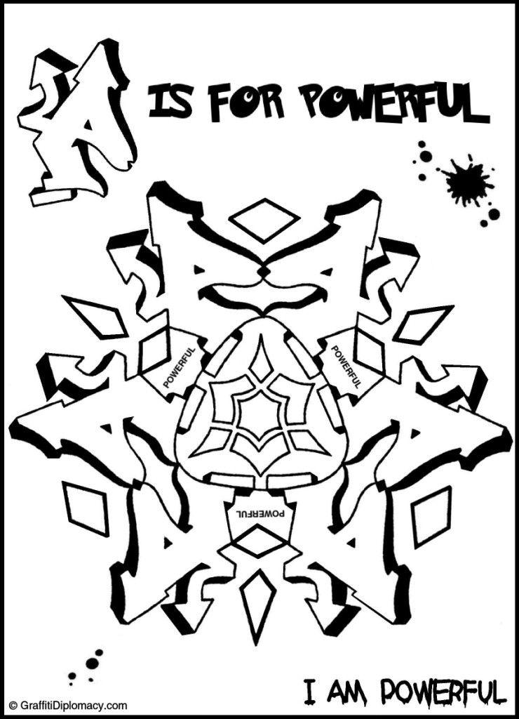 POWERFUL graffiti mandala mandala