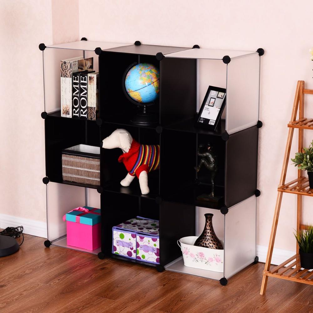 Modern Cubic Bookcase Living Room Storage Cabinet Shelf Clasiv