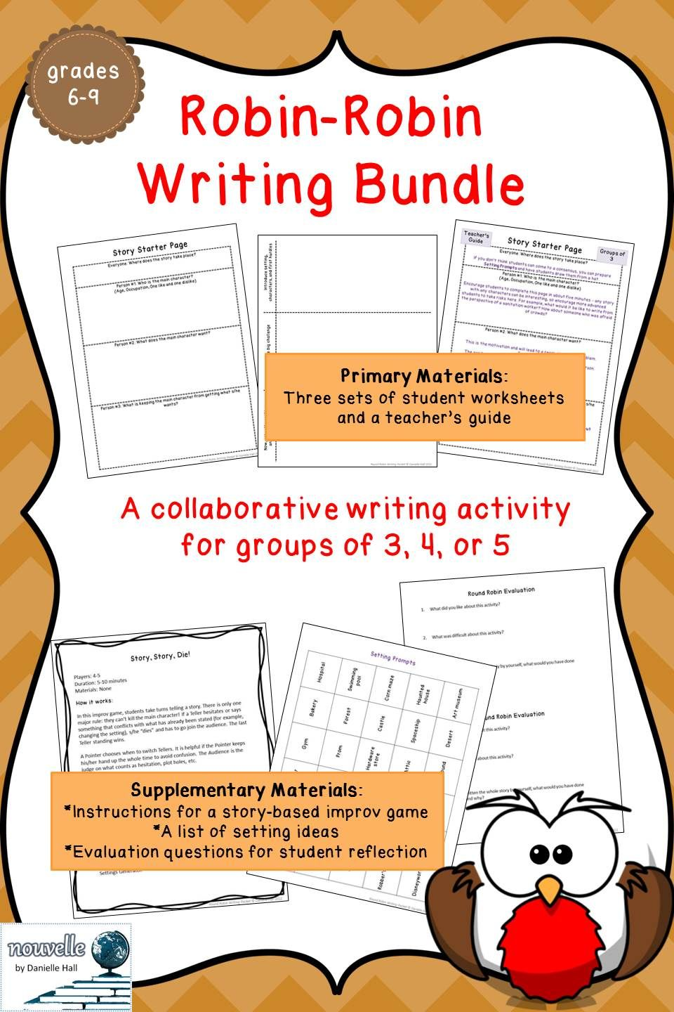 Round Robin Creative Writing Activity With Images Writing