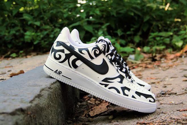 25c2c6ece4093 ... Nike Air Force 1 Low Tribal Tattoo Custom Sneaker Bar Detroit ...