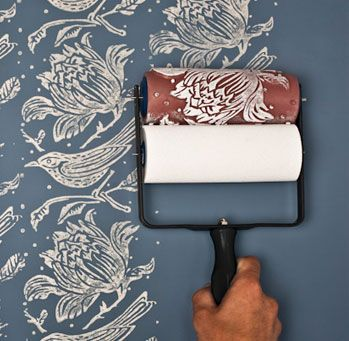 The Rollers The Painted House Patterned Paint Rollers Painting Patterns Wall Painting