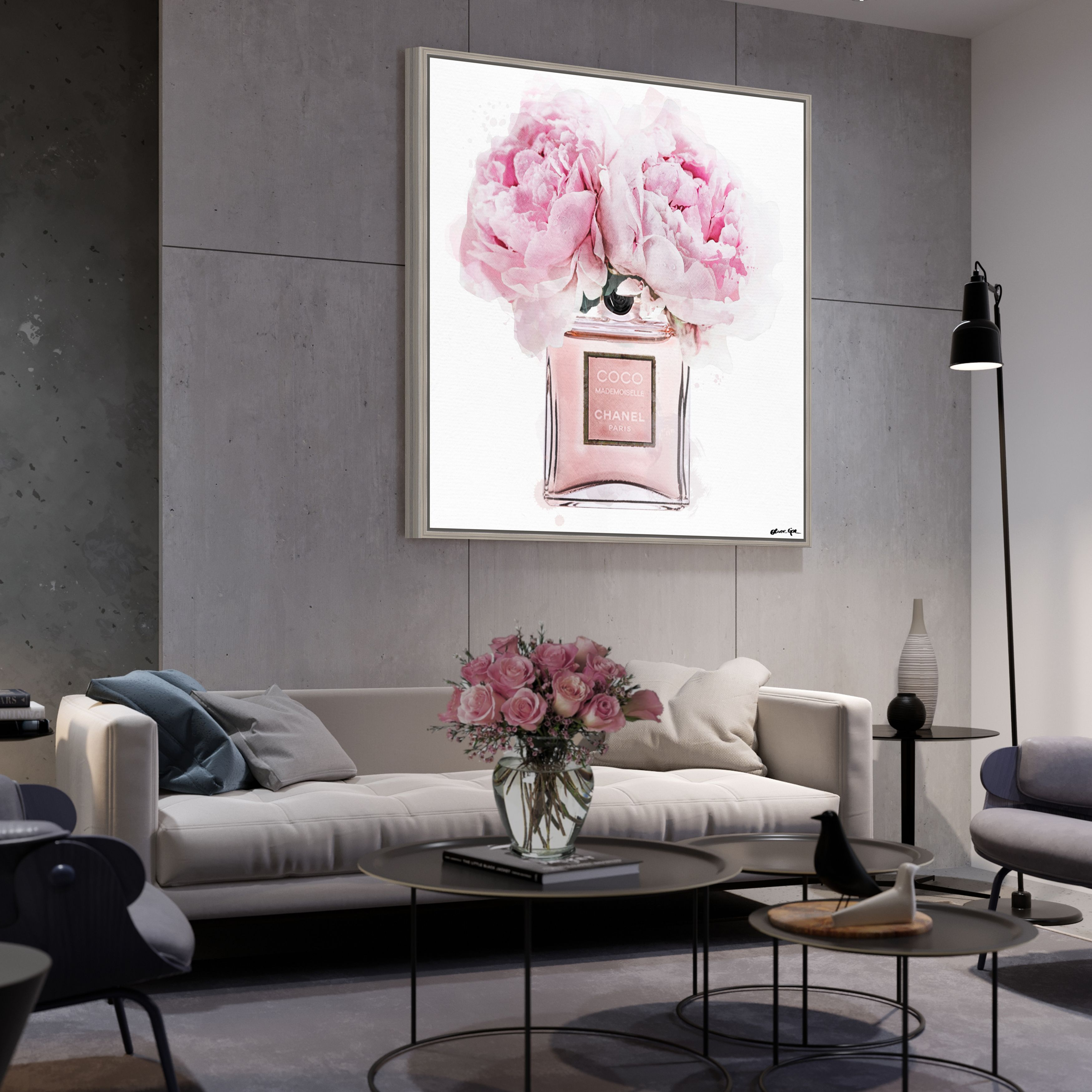 Add A Pop Of Color To Any Room With A Fashionable Wall Art From Oliver Gal