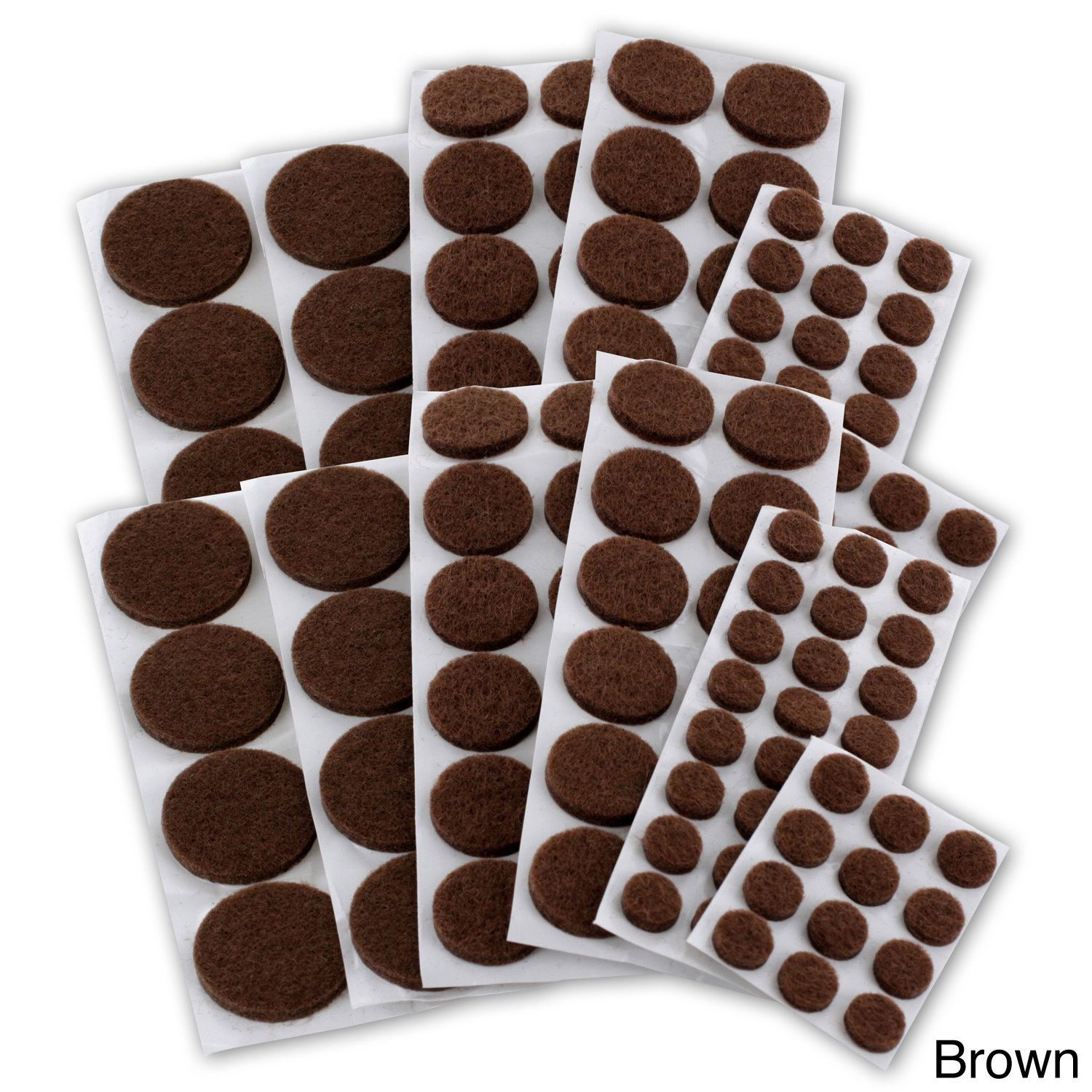 pads furniture brown assorted pack floor protector felt protectors of pin