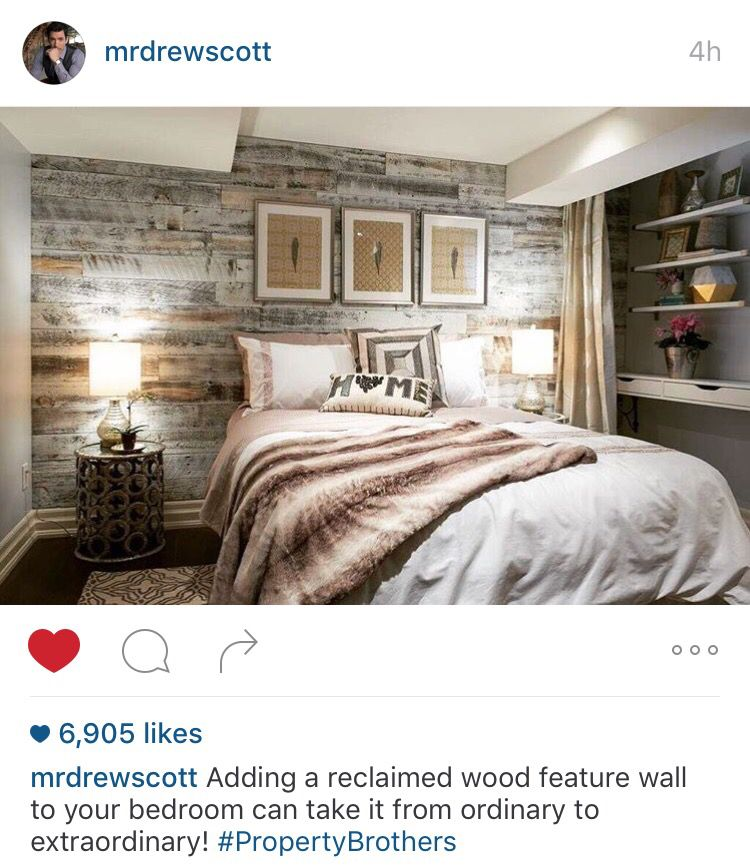 Property Brothers Reclaimed Wood Statement Wall ️ Interior Stunning Cool Ideas For Your Bedroom Ideas Property