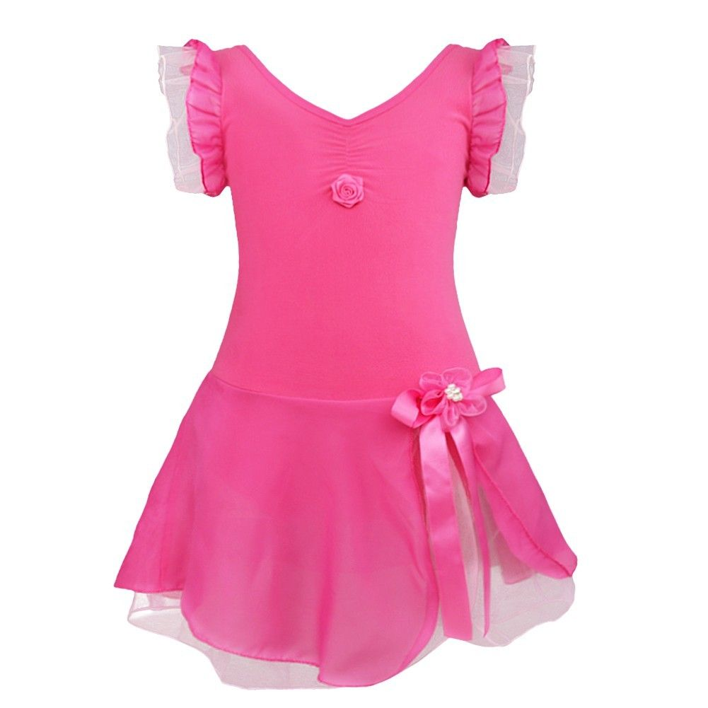 701f104dd iEFiEL Rose Kids Girls Tutu Ballet Dance Dress Leotard Fancy Costume ...