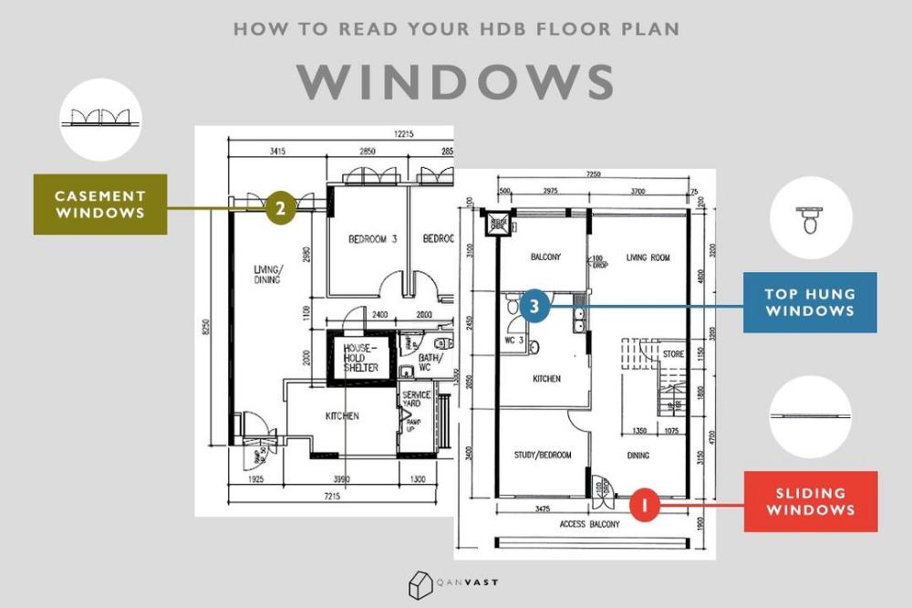 How To Read Your Hdb Floor Plan In 10 Seconds Qanvast Floor Plans Flooring How To Plan