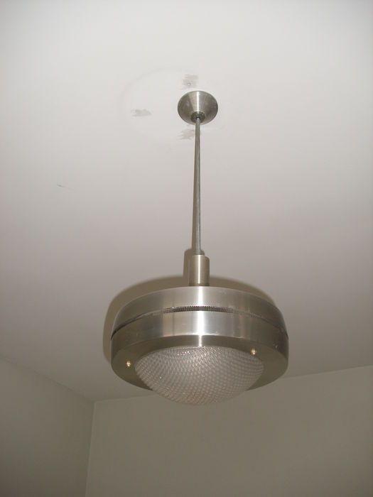 Vintage hanglamp Tweede helft 20e eeuw Lamp met plexi globes en ...