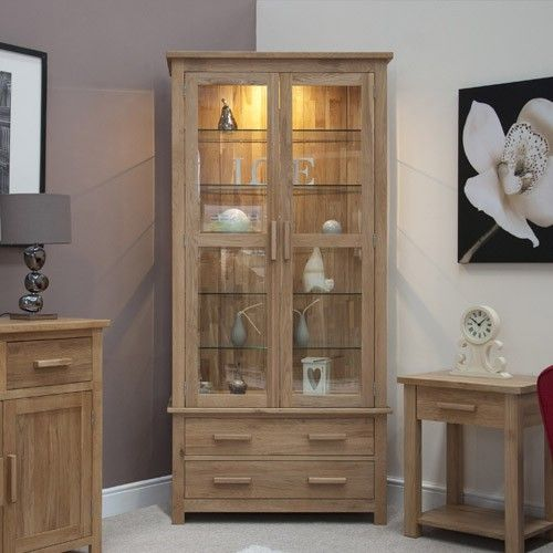 Attrayant Opus Solid Oak Glass Display Cabinet U2013 Ideal Home Show Shop · Living Room  ...