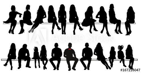 Vector Silhouette Of Sitting People Set Buy This Stock Vector And Explore Similar Vectors At Adobe Stock Adobe Stock Walking People Silhouette Vector