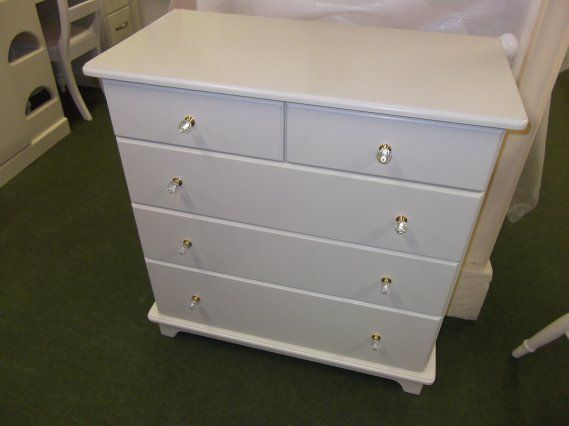 chest of drawers with gold crystal knobs