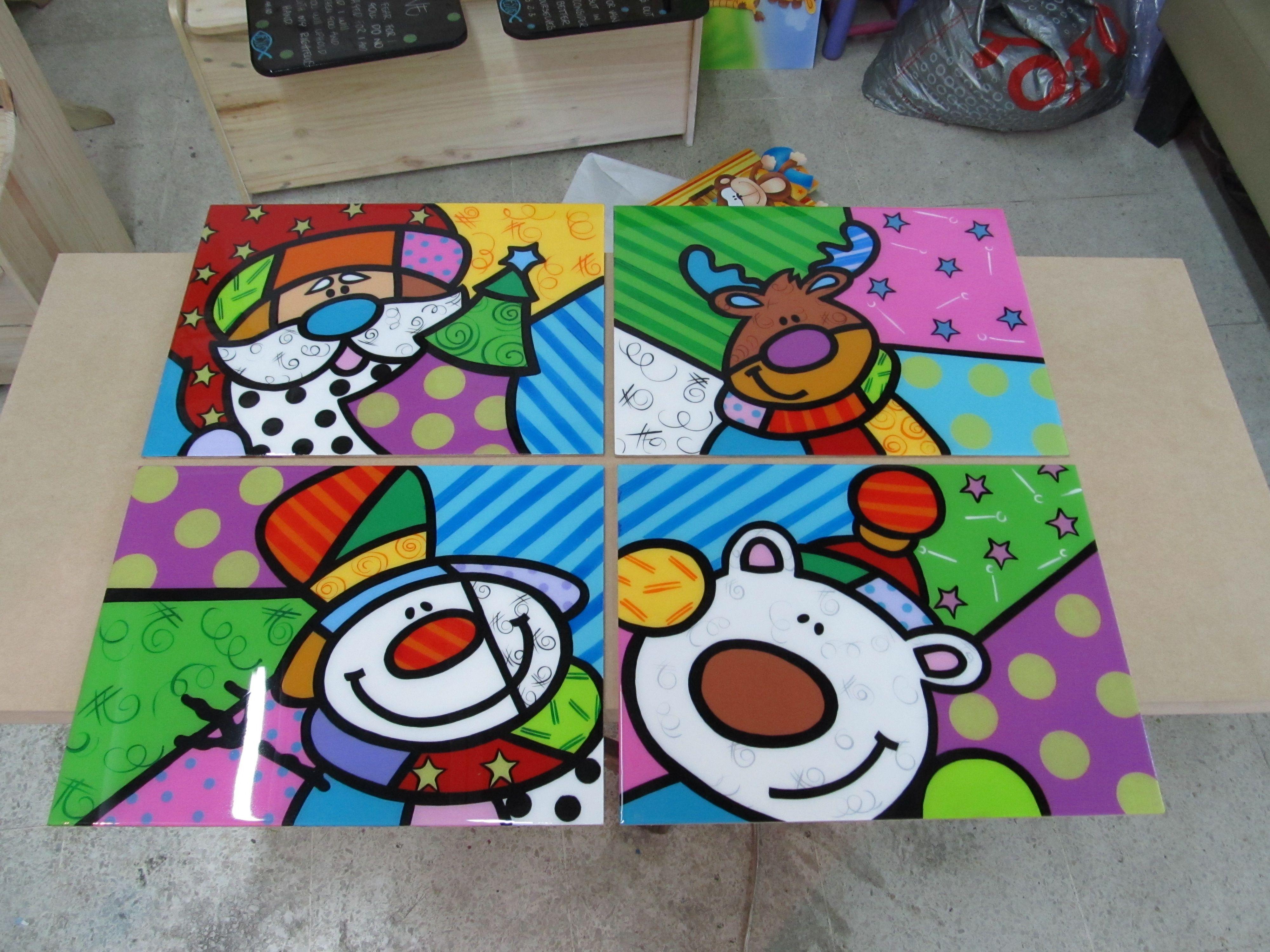 Juego Individuales Arte Britto Navidad Navidad