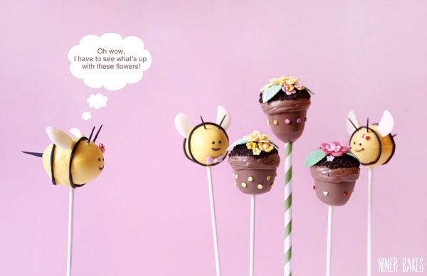 how to make bumble bee cake pops