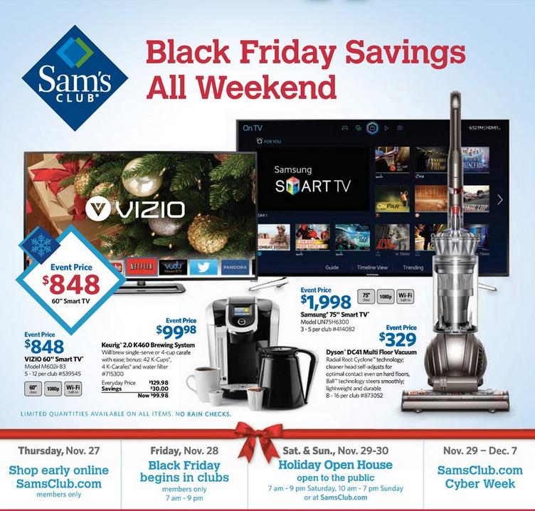 Sams Club Black Friday Ad 2014 Released Black friday ads