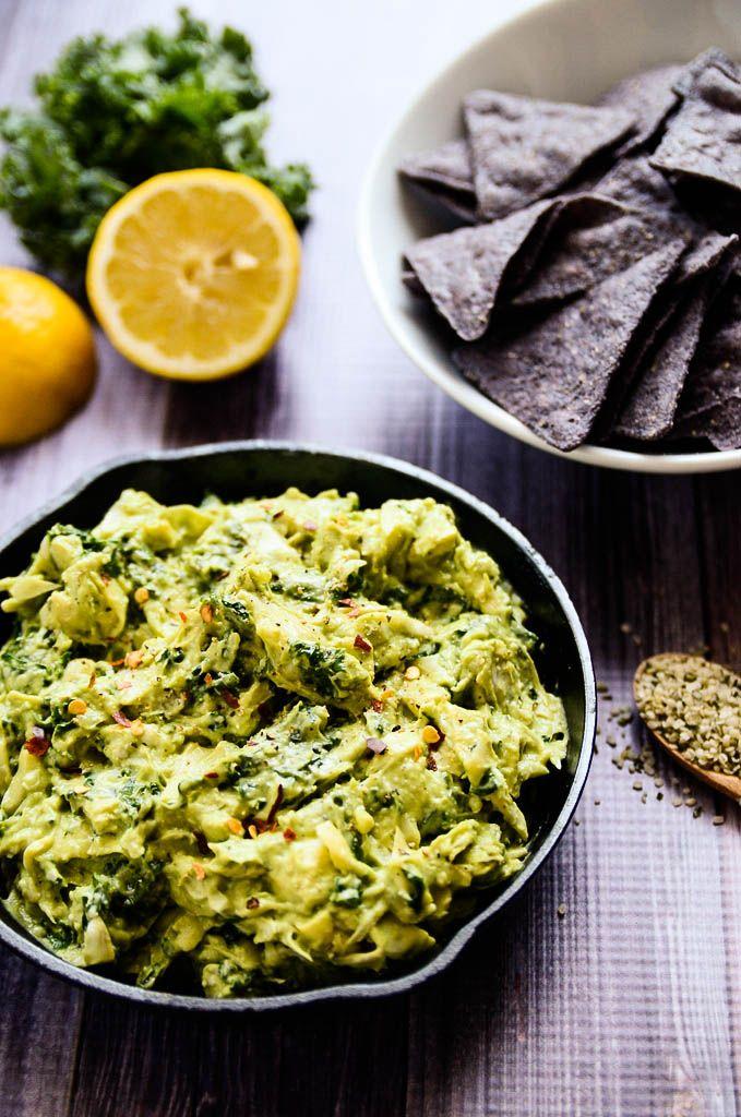 Creamy Avocado Artichoke Kale Dip