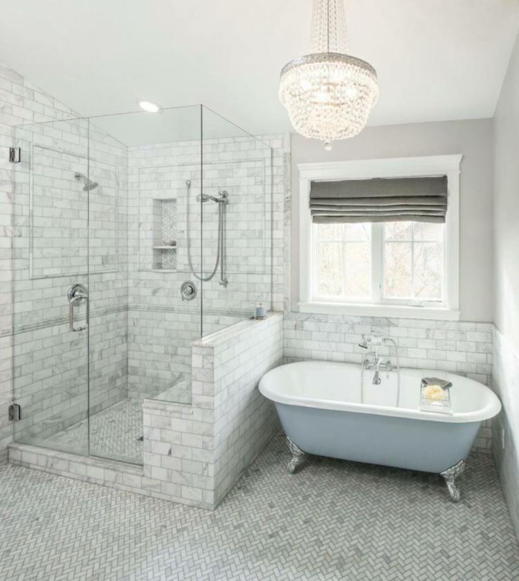 50 Awesome Farmhouse Shower Tile Decor Ideas Ideas Bathroomdesign Clawfoot Tub Bathroom Traditional Bathroom Bathroom Remodel Master