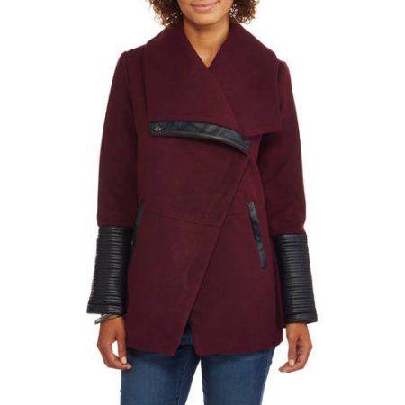 Details Womens Faux Wool Fashion Jacket