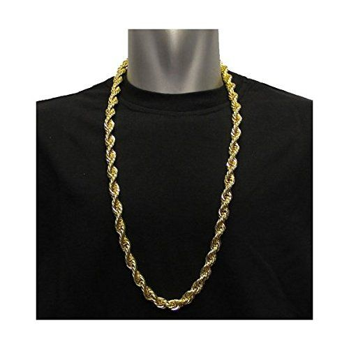 Amazon Com 18k Gold Plated Run Dmc Hip Hop Rope Chain Dookie Chain 10mm X 30 Stainless Steel Core High Gold Chains For Men Chains For Men Chains Necklace
