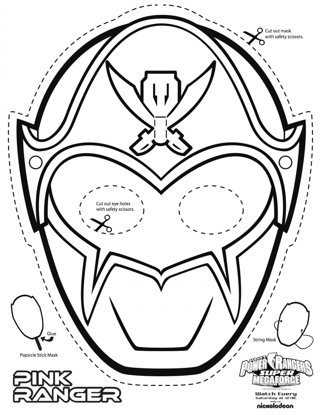 Super mega power rangers printable coloring masks eli - Masque de power rangers ...