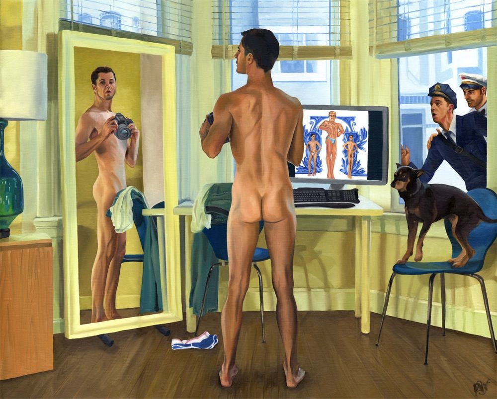 Image of Self Reflection, Starring Jason Driskill  |  painting
