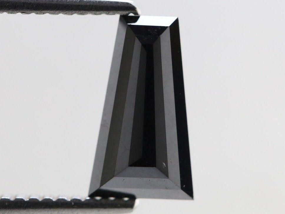 Taper cut diamond Color enhanced Black 1.81 Ct. R9-382
