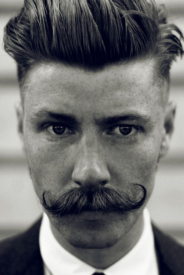 I think I need this man in my life! Or the bf needs to grow this mustache...