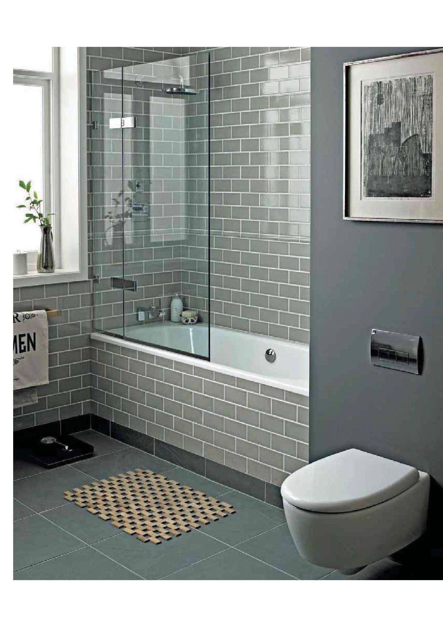 Gray Bathroom Perfect Sanctuary Retro Metro Holland Park Tiles