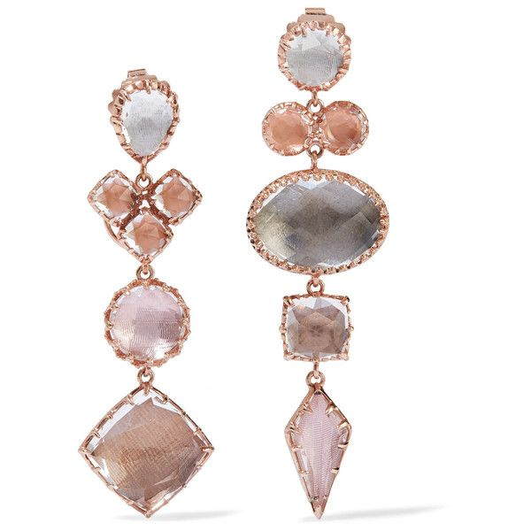 Sadie Rose Gold-dipped Quartz Earrings - one size Larkspur & Hawk