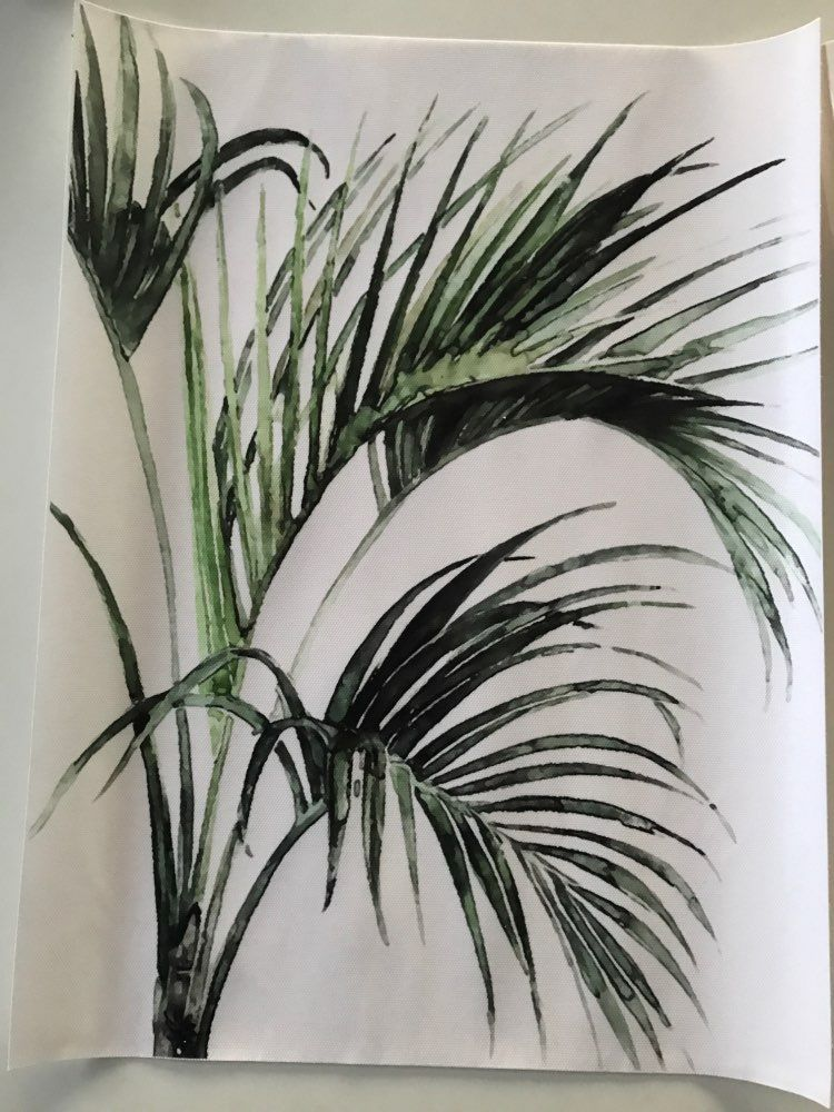 Aquarelle Vert Plantes Feuilles Toile Peintures Nordique