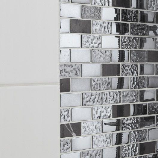 Mosaique Sol Et Mur Fusion Futurisme Noir Chrome 4 8 X 2 3 Cm Forslag