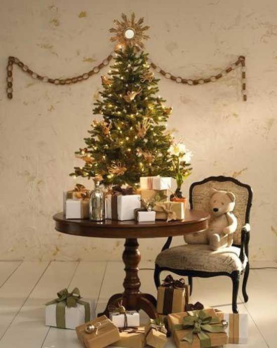 15 Arboles Pequenos De Navidad Ideales Para Apartamentos Arboles De Navidad Decorados Navidad Dorada Y Arbol De Navidad Dorado