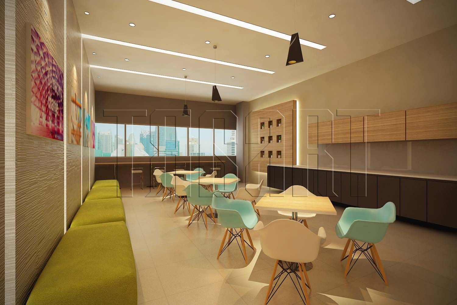 A simple office pantry interior design by traart private for Office interior design ideas singapore