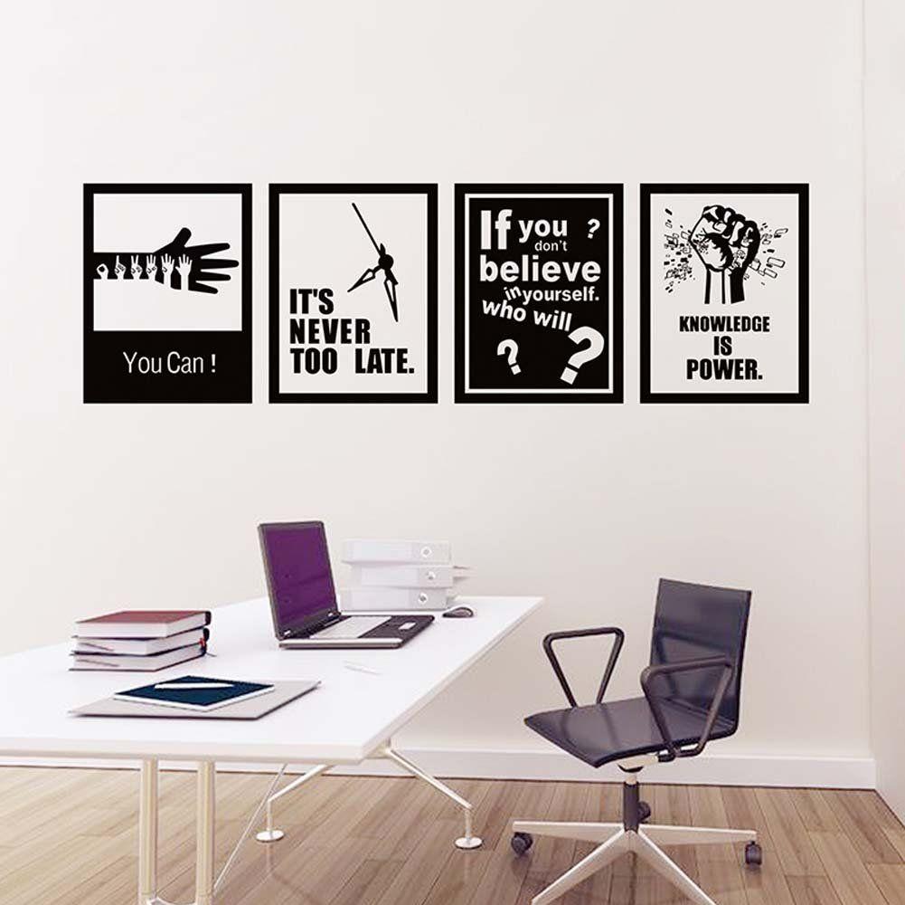 Inspirational Words Wall Sticker Art Decor For Living Room Bedroom