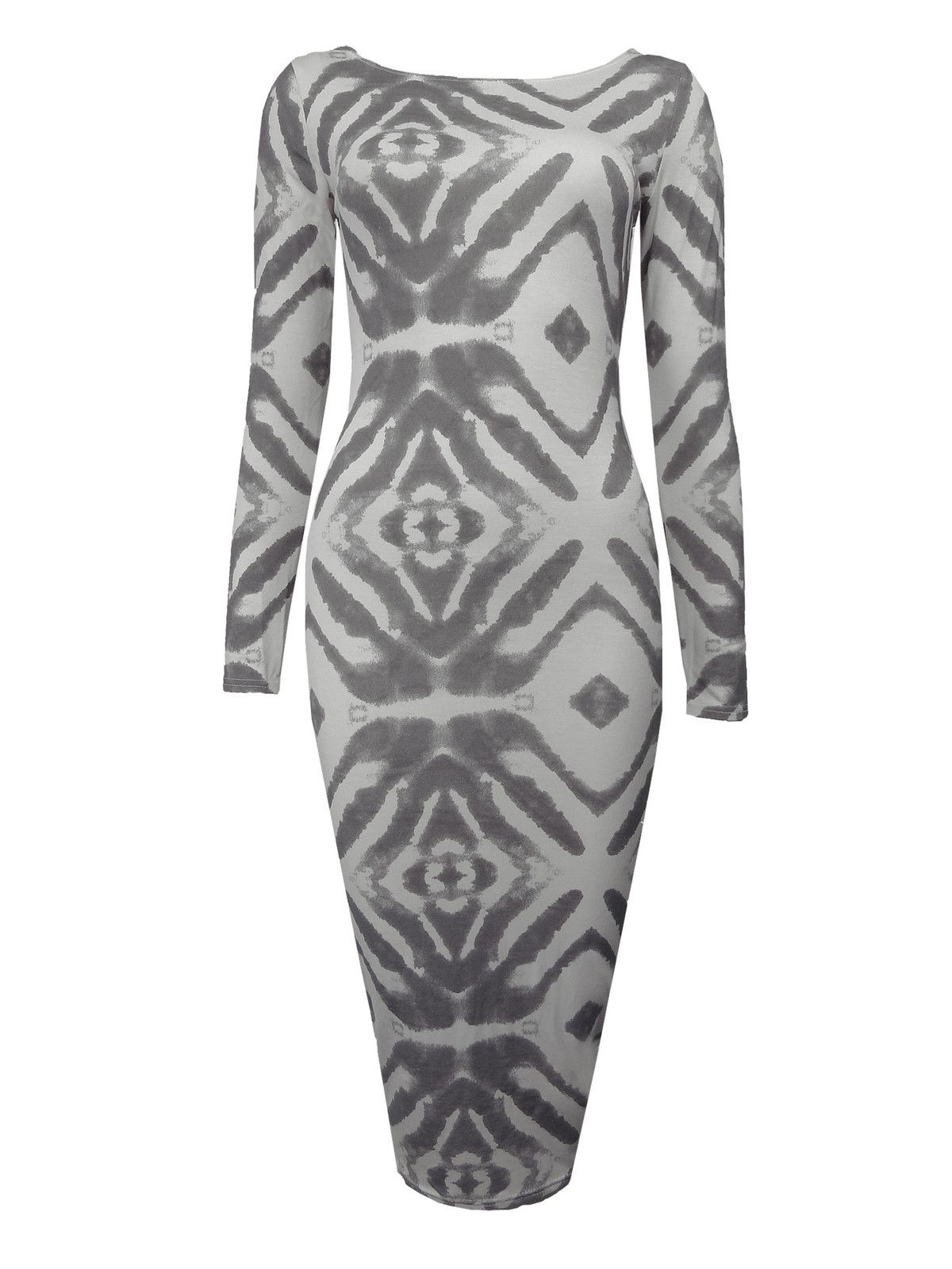 Long Sleeved Tie Dye Midi Dress  £8.99!  www.exciteclothing.com