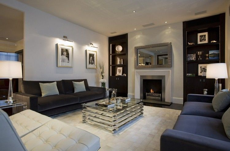 Beleuchtung Wohnzimmer Decke Spots Led Streifen Regale Wandleuchten