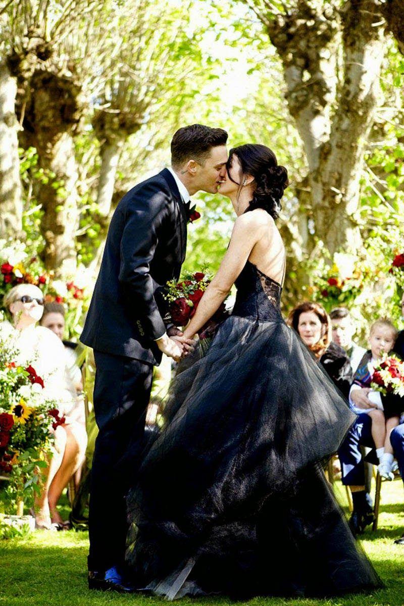 Josh Beech Shenae Grimes Celebrity Wedding Dresses Celebrity Bride Black Wedding