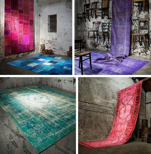 Over-dyed Vintage Carpet Trend