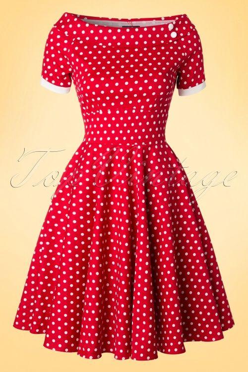 a59c5736c5 Dolly and Dotty Darlene 50's Red Polkadot Swing Dress 102 27 18773 20160330  0004W
