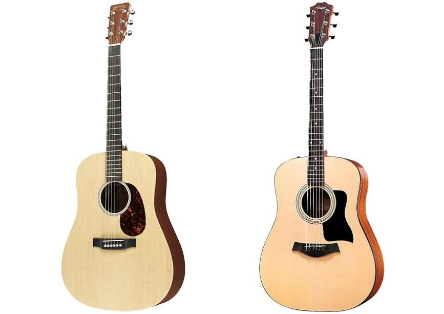 Taylor 110e Vs Martin Dx1ae Acoustic Electric Guitar Acoustic Electric Cool Guitar