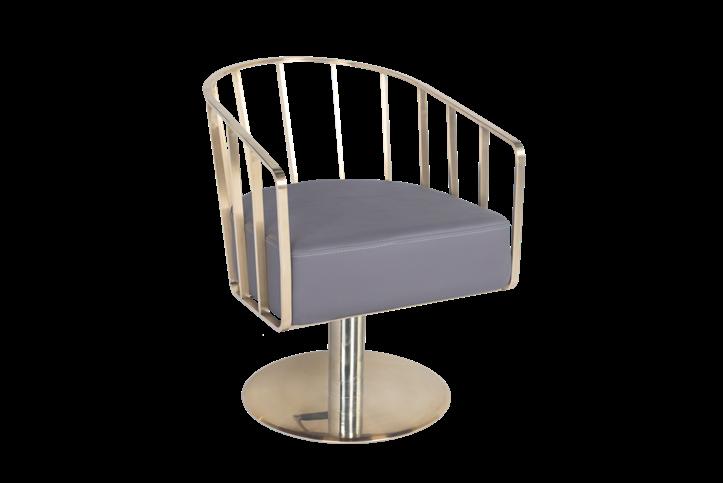 Gold Base Salon Chairs
