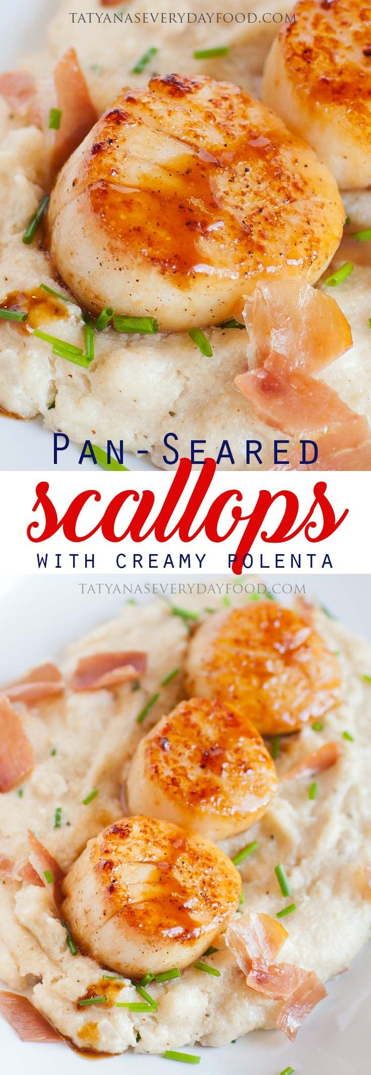 Pan seared scallops with prosciutto polenta tatyanas everyday food pan seared scallops with prosciutto polenta tatyanas everyday food scallop recipesscallop dishespan forumfinder Gallery