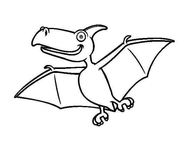 Dibujo De Pterodactylus Para Colorear Dibujo De Dinosaurio