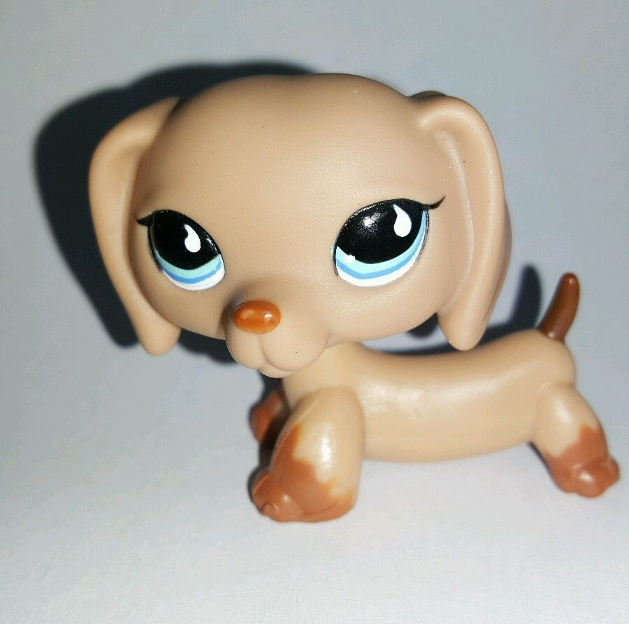 Littlest Pet Shop Brown Dachshund Dog Blue Eyes #518 Preowned LPS in Toys & Hobbies, Preschool Toys & Pretend Play, Littlest Pet Shop | eBay