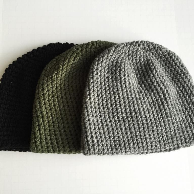 Mens Easy Crochet Beanie Pattern #menscrochetedhats