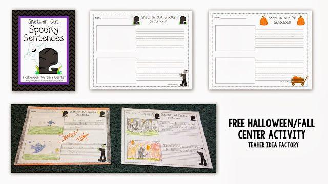 Teacher Idea Factory ADJECTIVE PUMPKINS + SPOOKY WRITING FREEBIE - halloween writing ideas